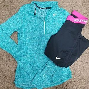 Teal Nike 1/2 Zip Pullover